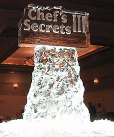 Chef's Secrets Logo created by Ice Miracles Long Island, NY